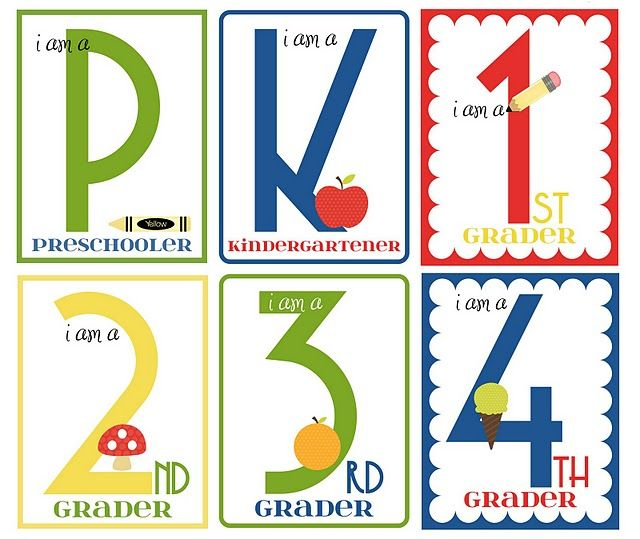 Back to school grade signsIdeas, Back To Schools, Schools Printables, Kids, Schools Signs, Schools Photos, Schools Pictures, Free Printables, Backtoschool
