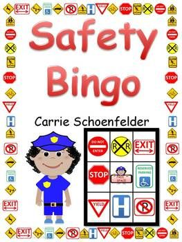 Safety Sign Bingo 30 Gameboards Environmental Print