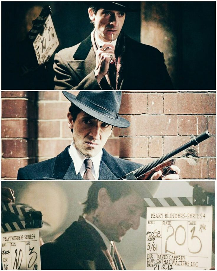 The look is deadly #lucachangretta #peakyblinders #adrienbrody #gangster #photoshoot #behindthescenes #photography
