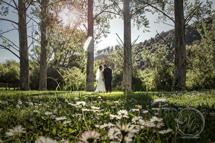 Bride and groom together by the river. New Zealand #wedding #photography. PaulMichaels of Wellington www.paulmichaels.co.nz