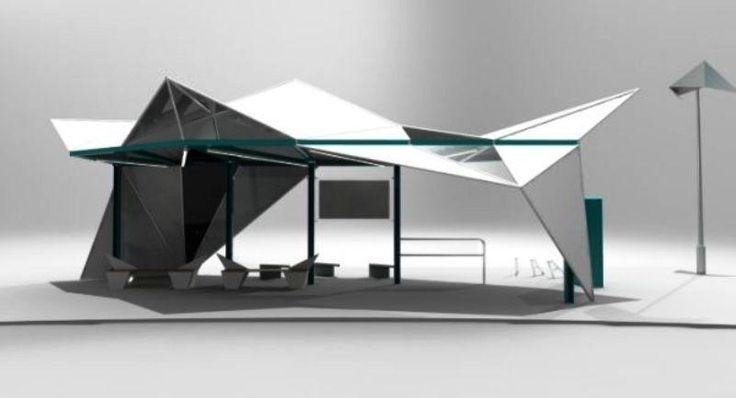 Sail bus shelter design by_a543 Kwek Rui Kiat-Public Space Ideas
