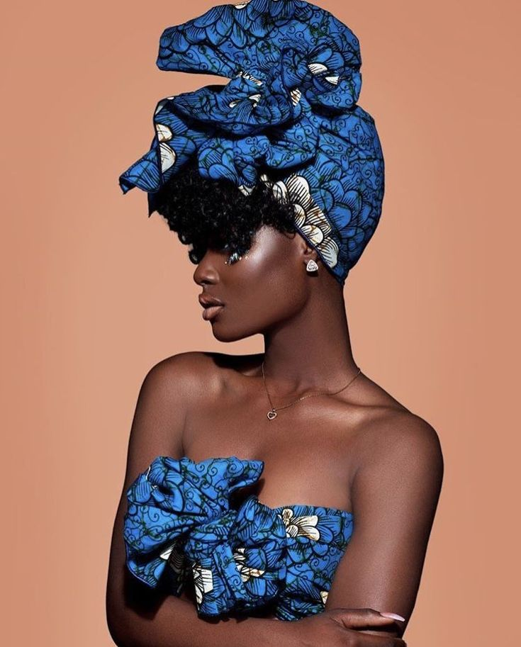 We're taking protective styling to the next level with our gorgeous headwraps….   – Blue