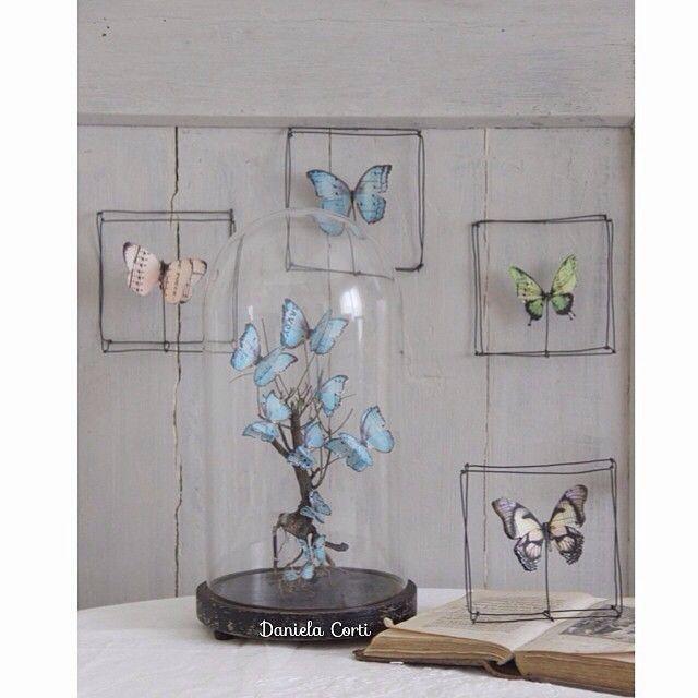 """""""Mi piace"""": 156, commenti: 35 - Daniela Corti•Wire & Textile (@filidipoesia) su Instagram: """"Esprit cabinet de curiosité. Si era capito che amo le farfalle?!? Con un gusto molto francese... I…"""""""