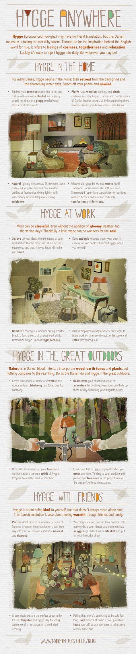How to Hygge #Infographic #LifeStyle