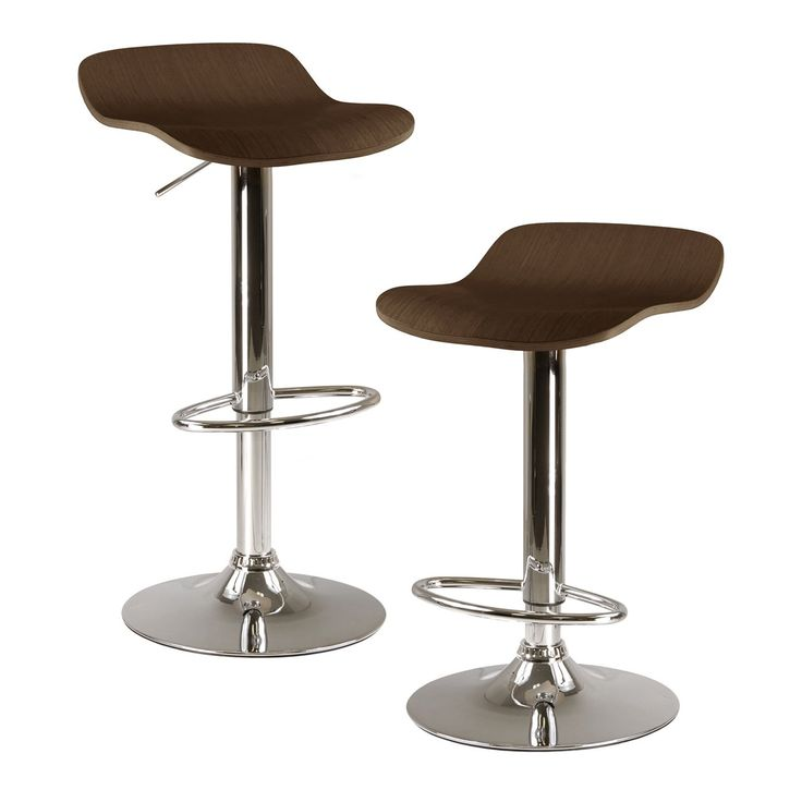 Unique Brushed Chrome Bar Stools