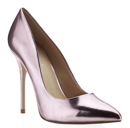 Carvela 'Gunning' pink metallic court shoes, £100