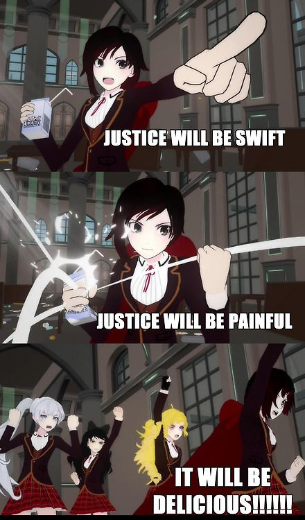 RWBY vs. JNPR food fight! That was the best darn thing I've seen all day!
