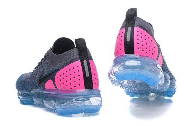 Nike Air VaporMax Flyknit 2. 0 Unisex Running Shoes Dark gray/Pink ...