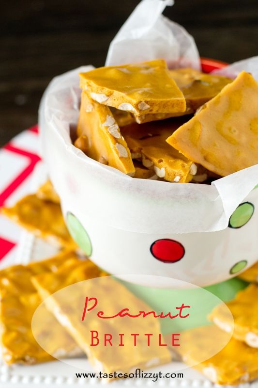 Peanut Brittle >> by Tastes of Lizzy T's. A peanut brittle recipe from Amish country that is melt-in-your-mouth good. Hear our secrets for making this brittle light, crisp, and airy. You'll love it!