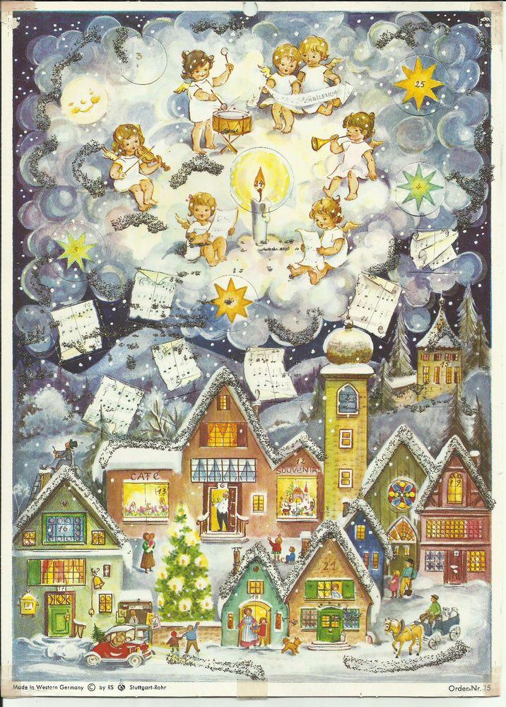 Advent Calendar Vintage : Best images about christmas advent calendars on