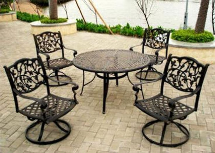 Black Wrought Iron Patio Furniture Part - 17: Awesome Unique Outdoor Wrought Iron Patio Furniture 93 For Your Small Home  Decoration Ideas With Outdoor