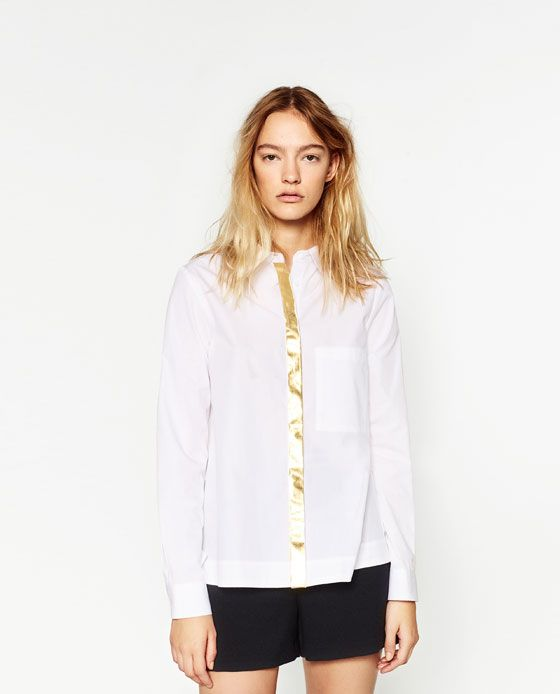 ZARA - WOMAN - POPLIN SHIRT