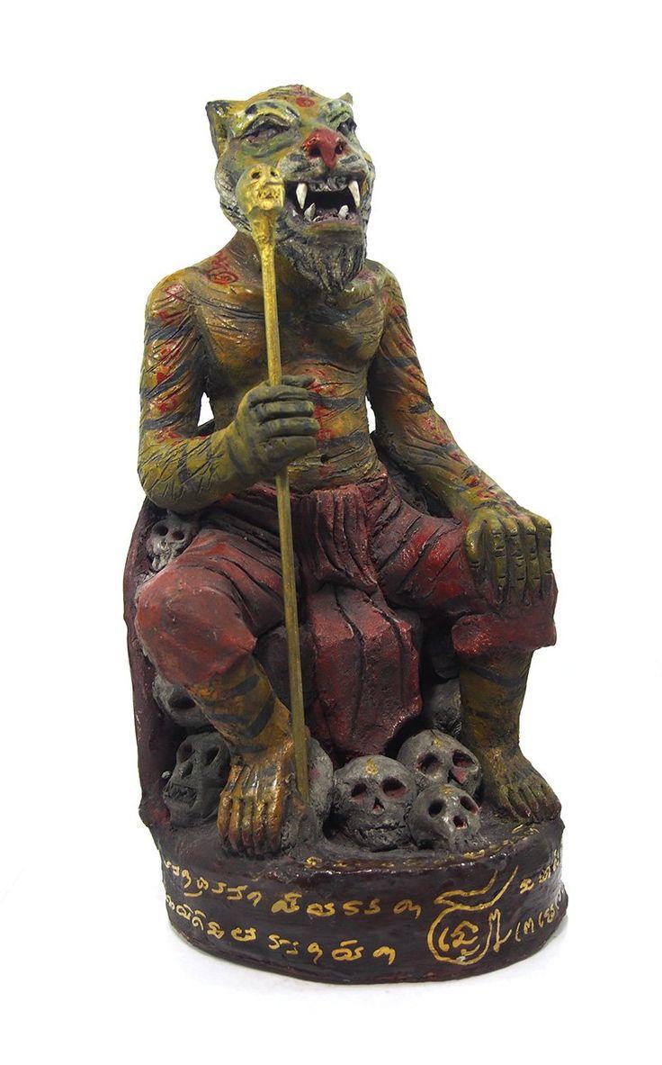 Phu Jao Seua Saming Prai Tiger Lersi Spirit Figure 8