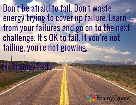 Failure = growing
