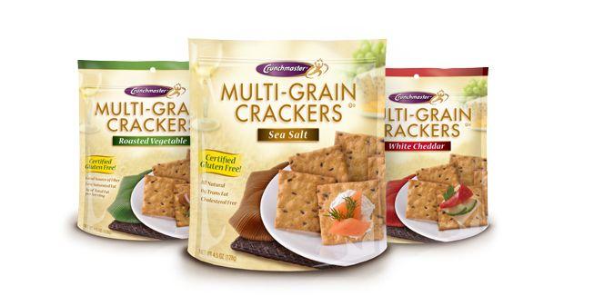 Crunchmaster Gluten Free Crackers | Home: Favorite Healthy, Crunchmast Gluten, Crunchi Delicious, Free Fav, Crunchmast Crackers, Free Products, Favorite Gluten, Free Branding, Gluten Free Crackers