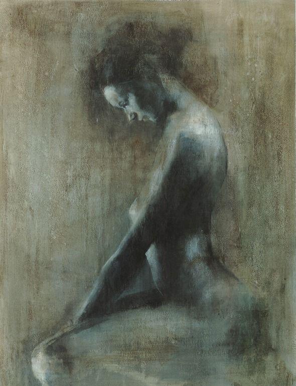 "Saatchi Online Artist: Patrick Palmer; Oil, 2010, Painting """"Looking down"""""