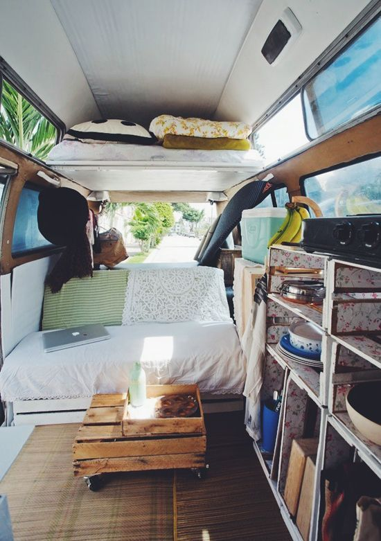 An up-cycled modern nomadic home, our shabby chic Volkswagen Kombi 1971! | Navigate on Trust www.navigateontrust.com