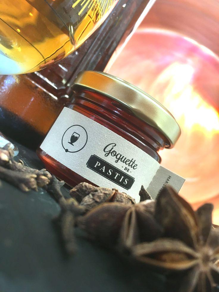 Goguette de Pastis Son parfum vous conduira sur la Côte d'Azur par sa fraîcheur et sa douceur. Comment décrire cette goguette : Un pastis mais en gelée. Il apportera un ensemble méditerranéen et estival à vos plats.
