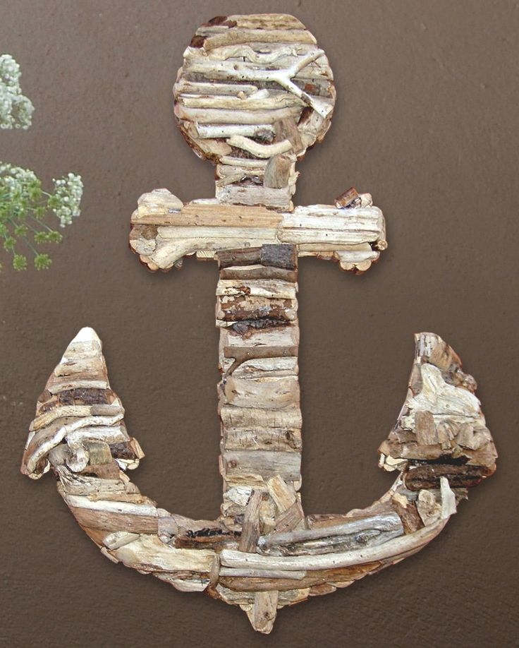 Driftwood Anchor Wall Art - Outer Banks Trading Group: Anchors, Craftiness Lazieness, Christian Symbol, Wood Wall
