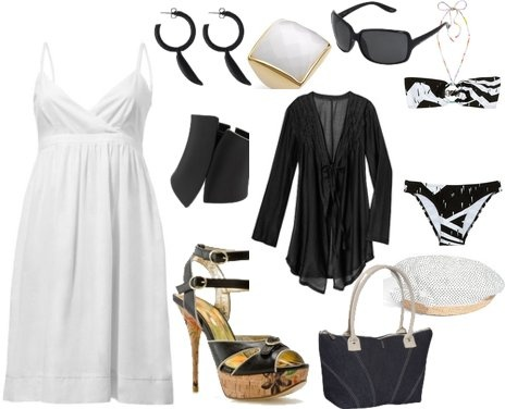 Black & WhiteStyle 3, Bikinis, Cute Summer Outfits, White Dresses, The Dresses, Hair Clothing, Summer Clothing