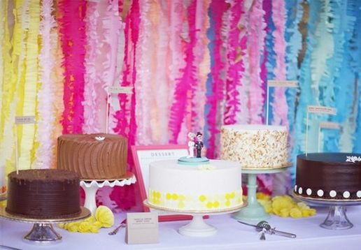 Colorido fondo para la mesa dulce de tu boda