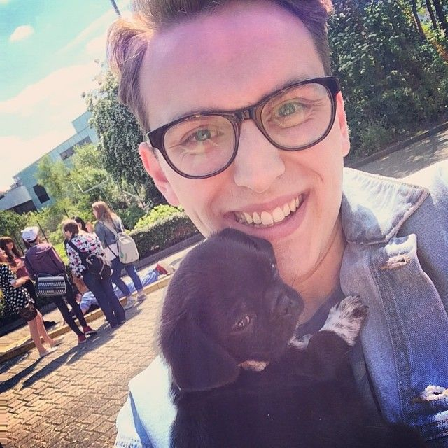 Jack Howard and the most adorable puppy>>>I didn't think I could be more attracted to him and then I find this picture and I just...