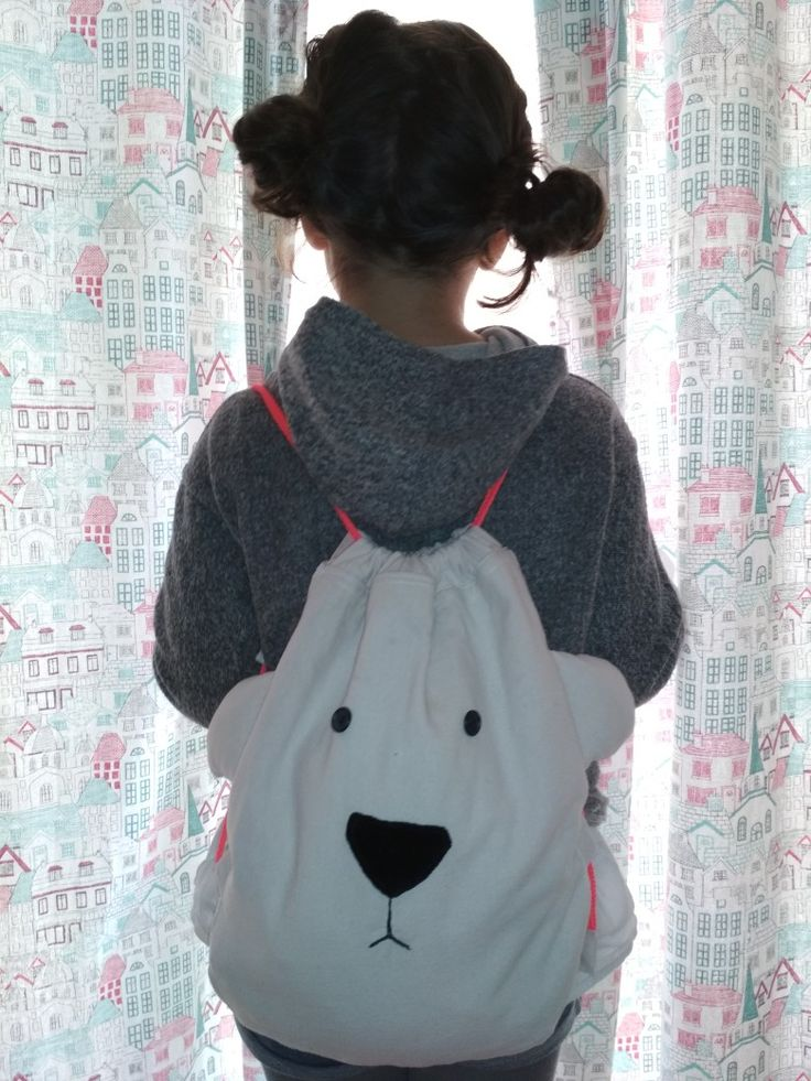 Handmade bear backpack