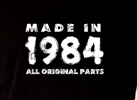 Made In 1984 Vintage 30th Birthday Gift Present by ...