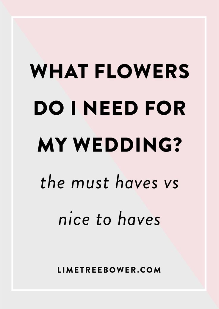 DIY Bride Flower Checklist. See the must haves for your wedding and which flowers you can add. | Lime Tree Bower