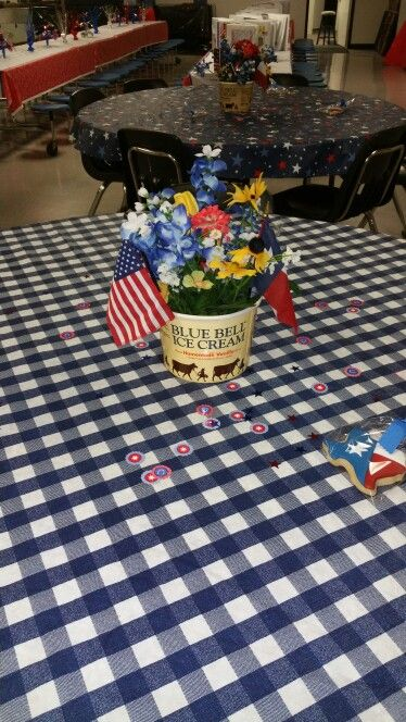 Texas Theme party... maybe add some Dr.Pepper.  Edit- Credit to some creative ladies at Family Christian Academy, Houston, Tx.