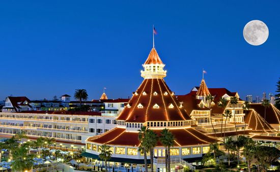The 120-year-old, absolutely lovely Hotel del Coronado in San Diego. Opened in 1888, the hotel is a must visit for any fan of Victorian architecture.