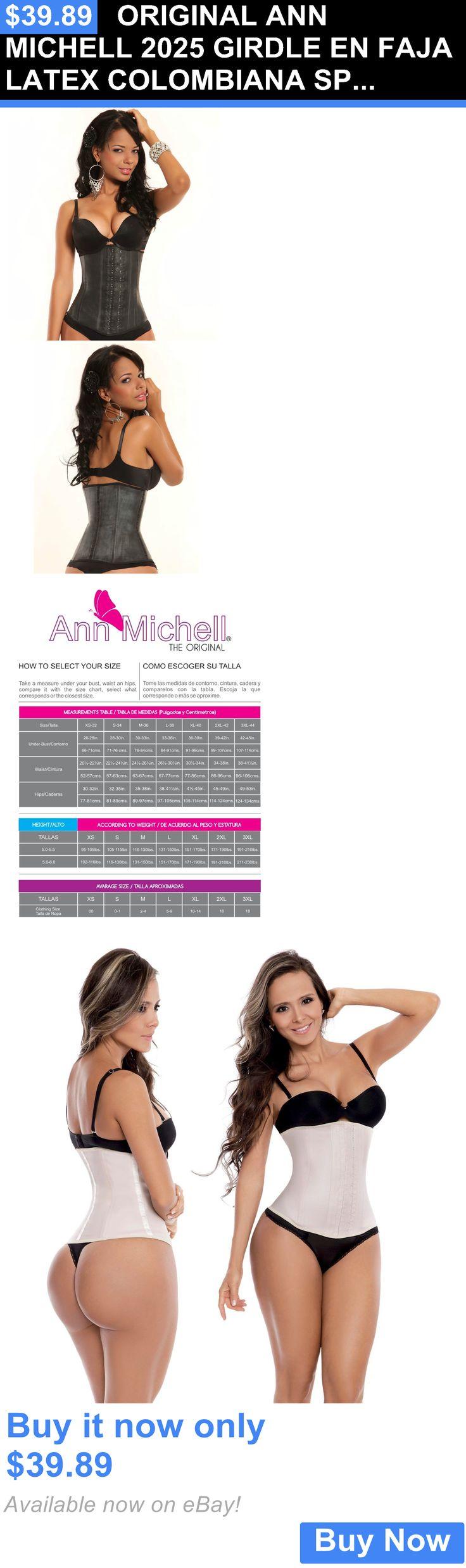Women Shapewear: Original Ann Michell 2025 Girdle En Faja Latex Colombiana Sport Waist Cincher BUY IT NOW ONLY: $39.89