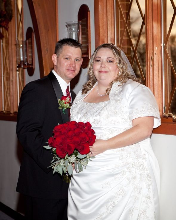 Real women in Real dresses! I love that they have bolero's to cover up fat arms! Yes! Perfect dress for this bride