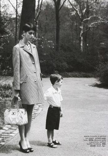 model Cecilia Mendez is exceptionally styled and comes out very polished and elegant as a fashionable young mother in this Russian Vogue editorial.