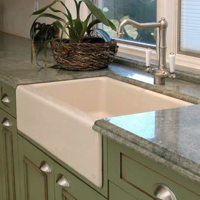Green Cabinets and sink I want