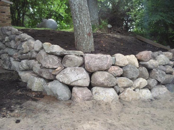 Landscaping Boulders Mn : Boulder walls in minnesota wall construction a