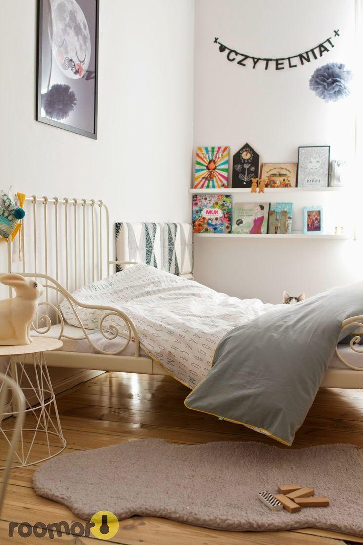 roomor! - #mumla, bedding, textile for kids, made in poland, kids room, vintage, girl room, moon fur neil, retro, letter banner,