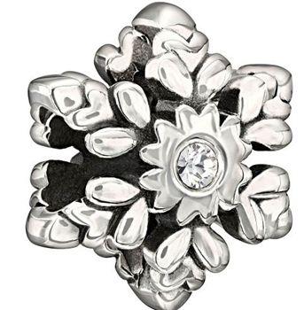 Snowflake Crystal Chamilia Bead