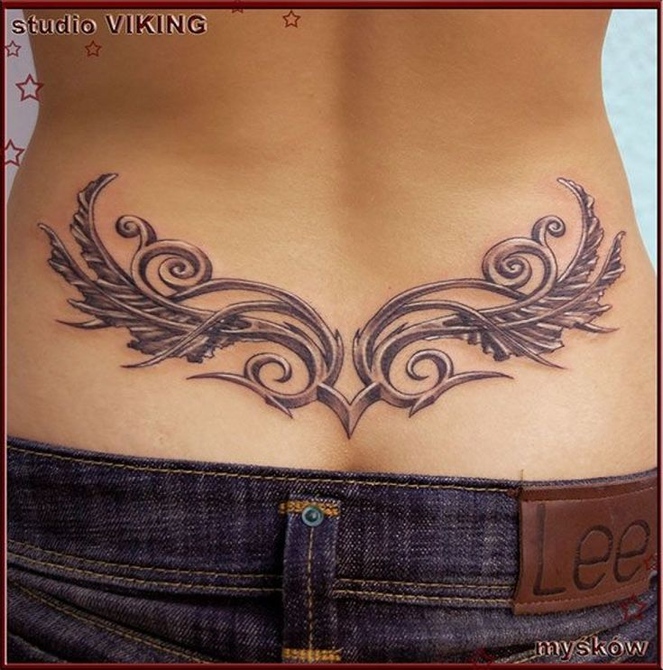 Angel Wing Tattoos On Lower Back For Women Daisy Lower Back regarding Tattoo On …