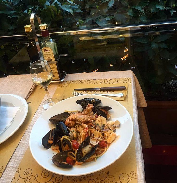 Buona sera fianalmente si mangiadopo una giornata dura #pasta #spaghettialloscoglio #ristorante #amerigo #rimini #italia всем хорошего вечера by aleksafil