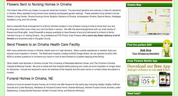 "Let's say that you want to order some flowers for your aunt in Omaha. You remember the frequent warnings on this site to go directly to a local florist, so that's what you do. You type ""florist oma..."