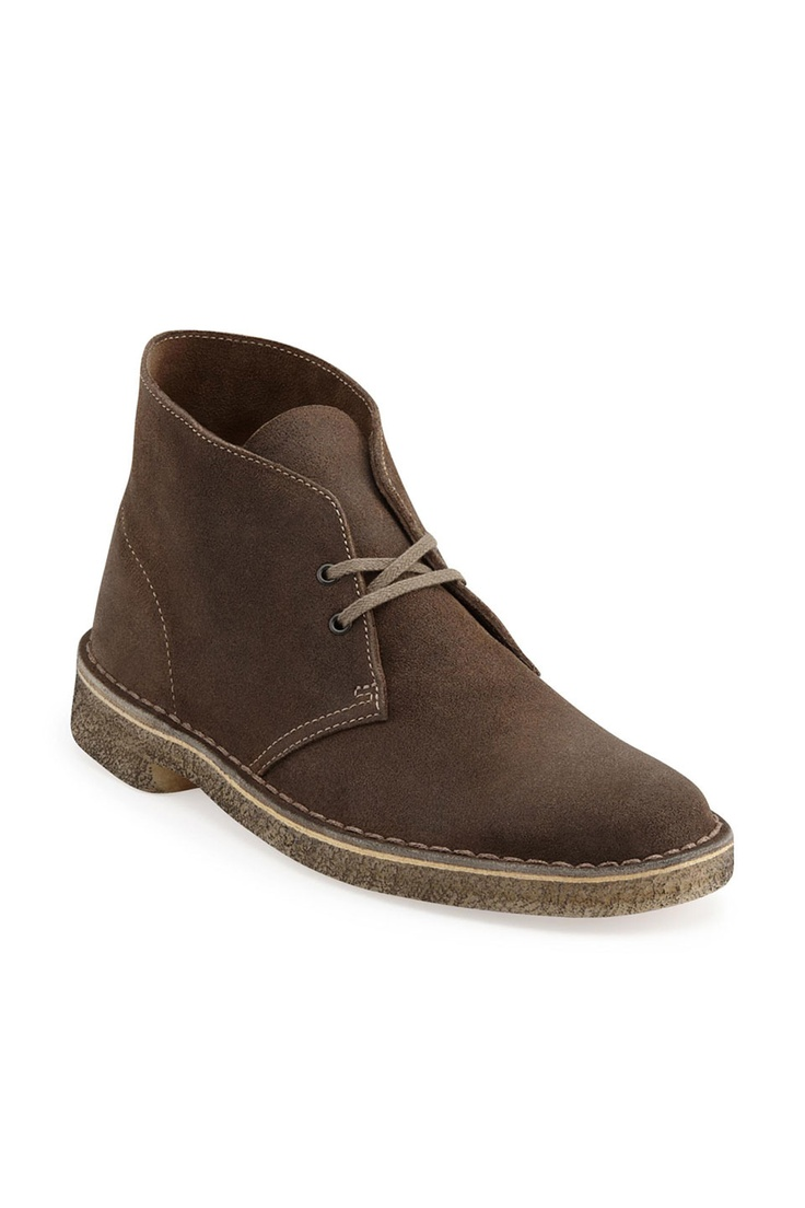 Desert BootMen in Taupe Distressed  Mens Boots from Clarks