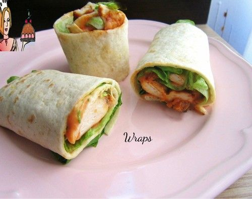 Wrap de peito de frango e alface com molho delicioso ♥♥♥ - Receitas fáceis, rápidas e saborosas!