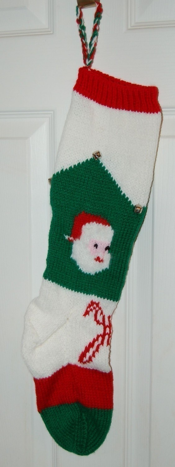 Vintage Christmas Stocking Knitting Pattern : Christmas Stocking, knit, from vintage pattern Knitting Pinterest Vinta...