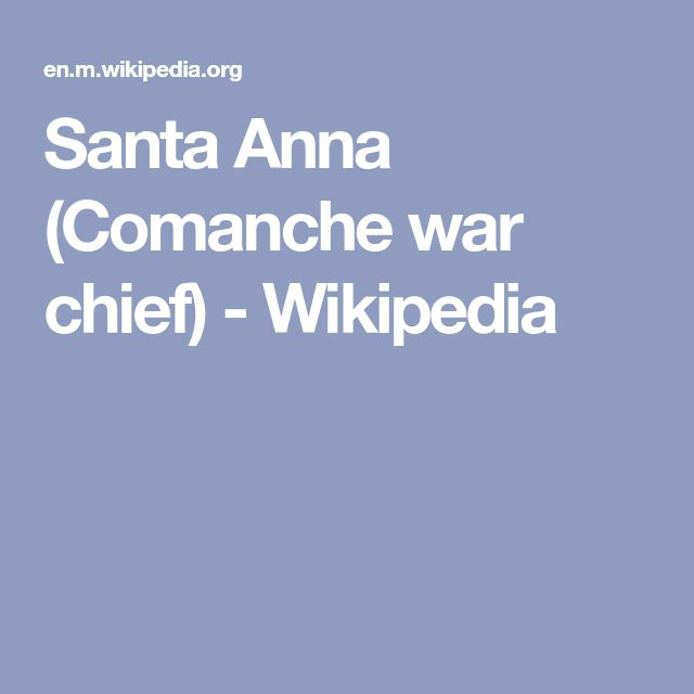 Santa Anna (Comanche war chief) - Wikipedia