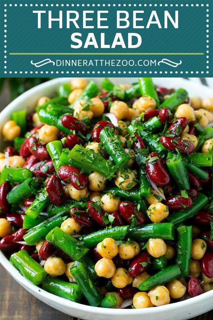 Three Bean Salad Bean Salad Recipes Green Bean Dishes Three Bean Salad