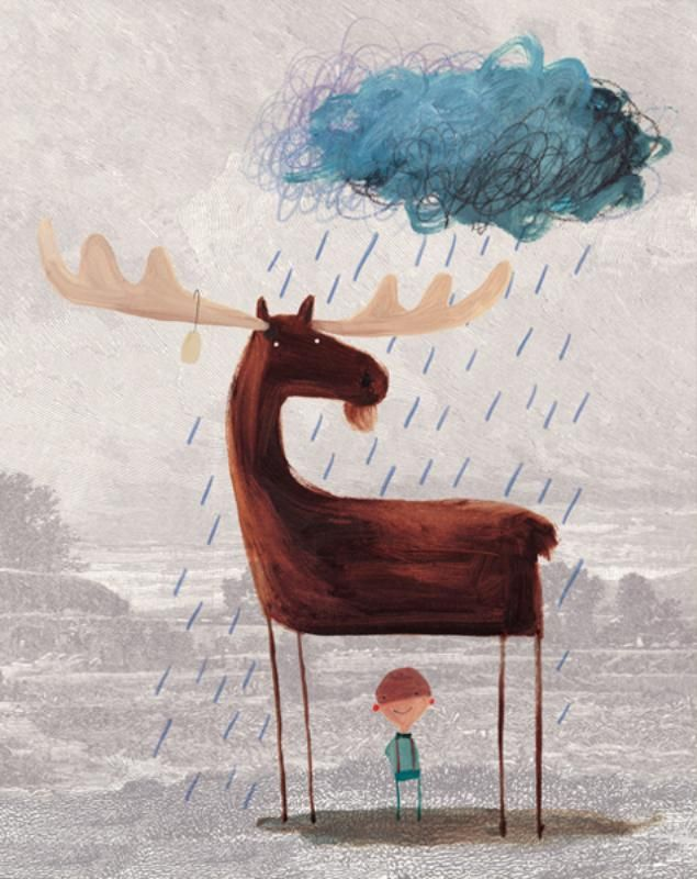 This Moose Belongs to Me by Oliver Jeffers {would be a cute piece of artwork for a little boys room}