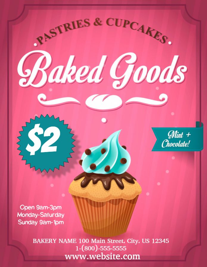 Bakery Sale Advertisement Flyer Template Printable Bake Sale Flyer Flyer Design Templates Promotional Design