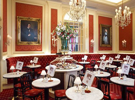 Hotel Sacher in Austria - sat in this exact room and ate the most amazing chocolate cake I have ever had.