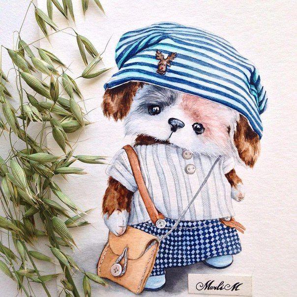 Очаровательные рисунки Марины Лебедевой